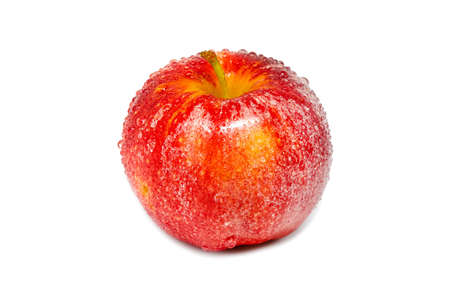 Vivid and fresh red apple on isolated background