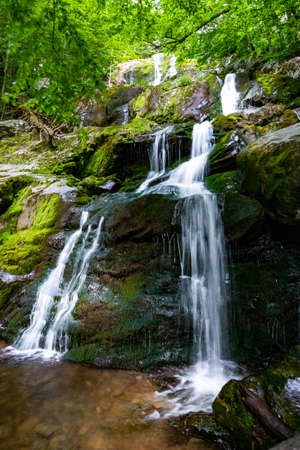 Scenic Dark Hollow Falls overview at Shenandoah National park in summer Archivio Fotografico