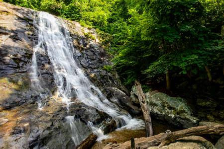 White Oak Canyon and Cedar Run trail loop waterfalls and cascades in Shenandoah National Park