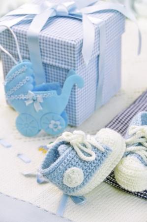 bautismo: zapatos de beb� Foto de archivo