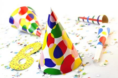 noisemaker: party colour Stock Photo