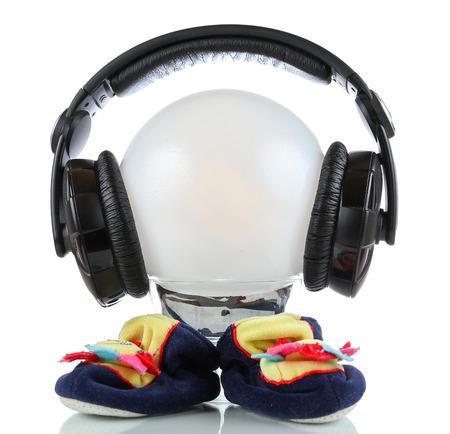 martian: Little martian with headphones