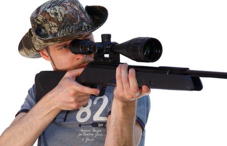 telescopic: Hunter with telescopic rifle