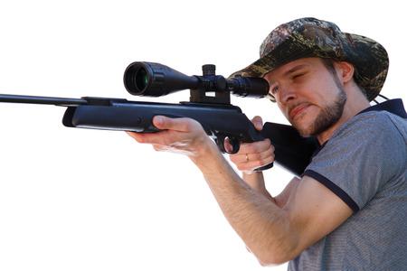telescopic: Smart shooter aiming telescopic rifle