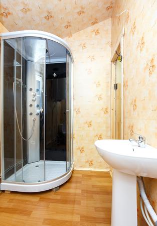 bathroom interior: Interior of country hotel bathroom Stock Photo