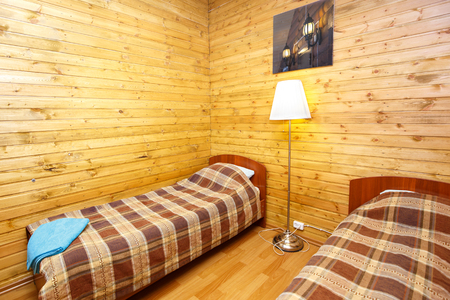 double room: Interior of double room in country hotel