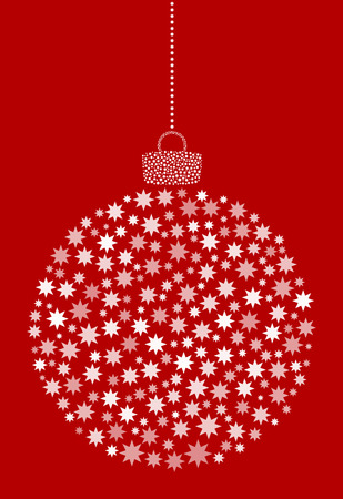 Vector abstract Christmas ball of asterisk, flower icons.