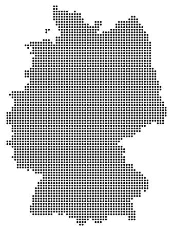 Abstract Germany map of black dots / circles. Vector EPS 10 Vetores