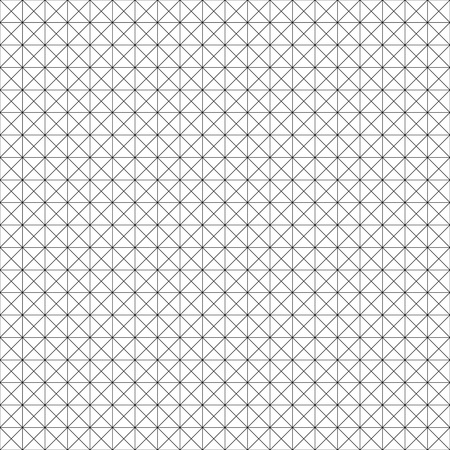 Vector seamless geometric pattern. Grid texture. Black-and-white background. Monochrome design. Illustration