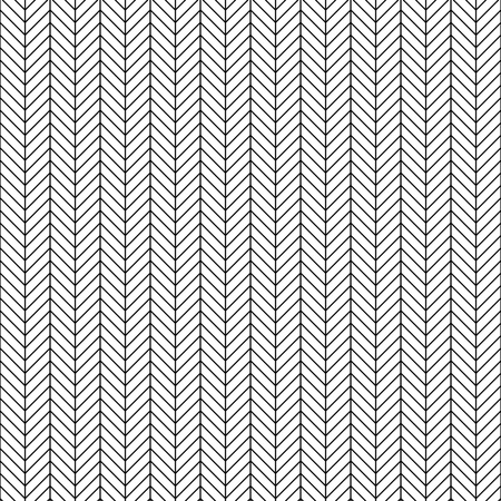 Vector seamless herringbone pattern. Geometric line texture. Black-and-white background. Monochrome design.