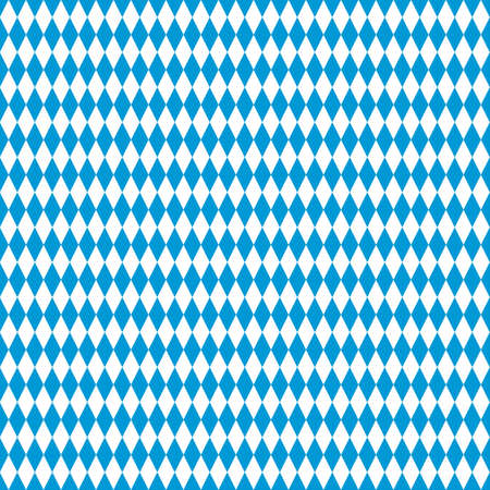 Seamless Bavarian Flag Pattern. Oktoberfest Background. EPS10 vector file