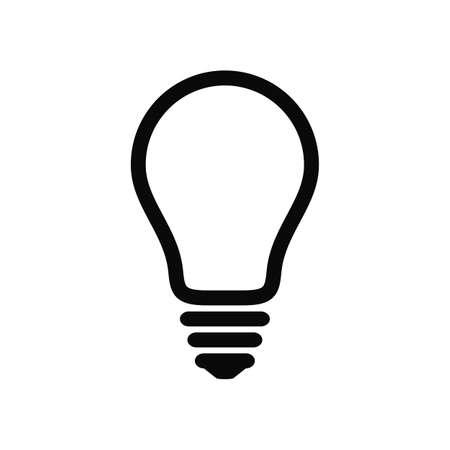 Light bulb line icon. Idea and creativity symbol. EPS10 vector file Stock Illustratie