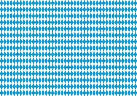 Seamless Bavarian Flag Pattern. Oktoberfest Background. Traditional Texture of Bavaria. EPS10 vector file Stock Illustratie