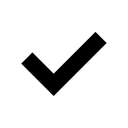 Black check mark icon isolated on a white background. EPS10 vector file
