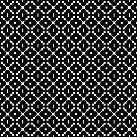 Vector seamless pattern. Elegant geometric texture. Black-and-white background. Monochrome design. EPS10 vector file