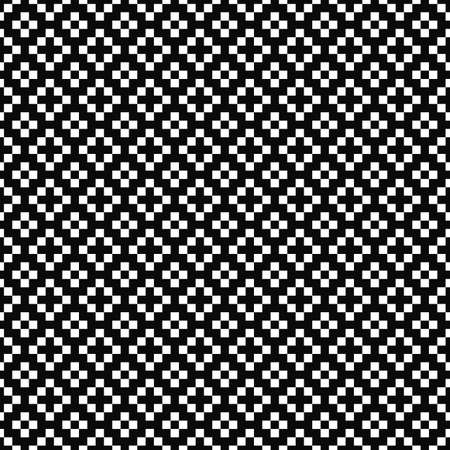 Vector seamless geometric pattern. Simple texture of squares. Black-and-white background. Monochrome design. EPS10 vector file