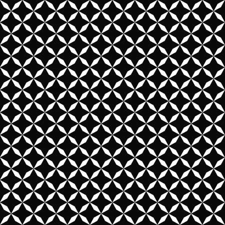 Vector seamless pattern. Geometric texture. Black-and-white background. Monochrome design. EPS10 vector file