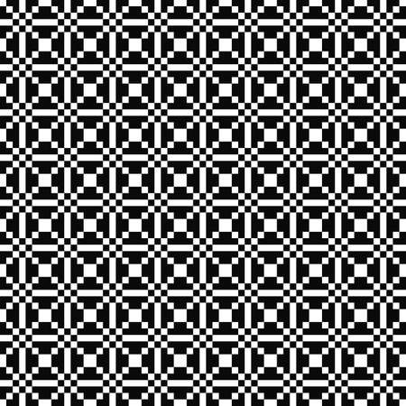 Vector seamless geometric pattern. Texture of squares. Black-and-white background. Monochrome design. EPS10 vector file
