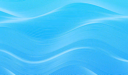 Modern wavy background in light blue. Abstract elegant curved lines pattern. EPS10 vector file Ilustracja