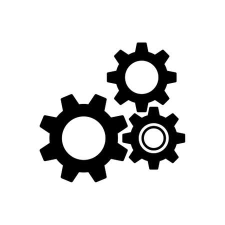 Gear wheels pictogram, icon isolated on a white background. EPS10 vector file