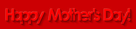 Happy Mother's Day! Red lettering on a red background. Illusztráció