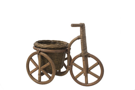 decorative wicker tricycle photo