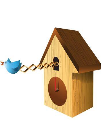 Cuckoo Clock  Stock Illustration Vector