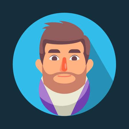 Illustration vector graphic of cartoon Men Avatar With Smiling Face Emotions, Flat Design. Perfect for business website, brochure, social media illustration, mascot, etc.