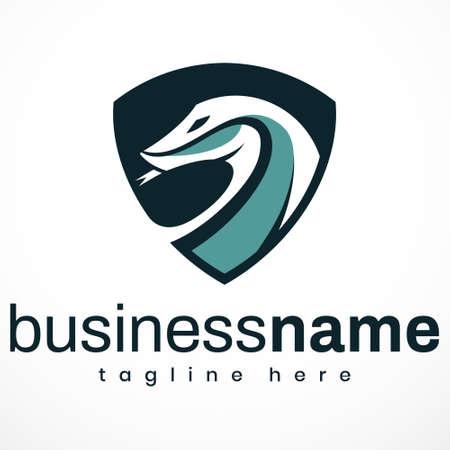 Vector graphic of Logo Komodo Dragon, Monitor Lizard, Reptile. Perfect for Business, Company, E-Sport, Technology, etc