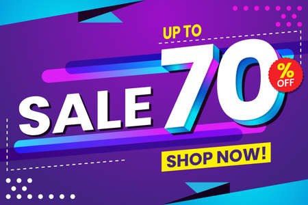 Vector graphic of Abstract Colorful Sale 70 Percent Background.Perfect for Retail, Brochure, Banner, Business, Selling, etc