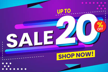 Vector graphic of Abstract Colorful Sale 20 Percent Background.Perfect for Retail, Brochure, Banner, Business, Selling, etc
