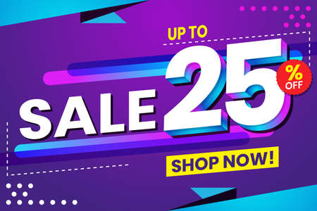 Vector graphic of Abstract Colorful Sale 25 Percent Background.Perfect for Retail, Brochure, Banner, Business, Selling, etc