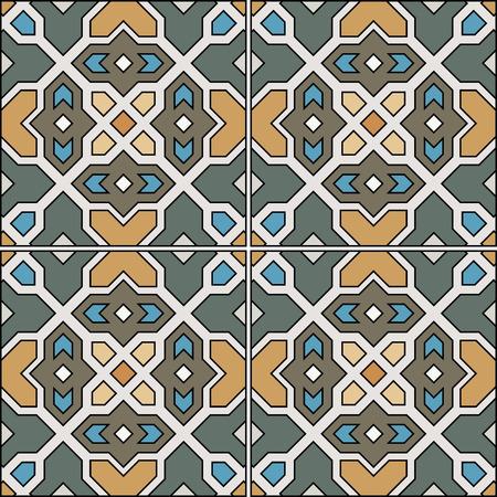 tile background: Beautiful seamless ornamental tile background