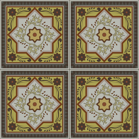 seamless tile: Abstract vintage ethnic seamless pattern ornamental. vector flourish frame.