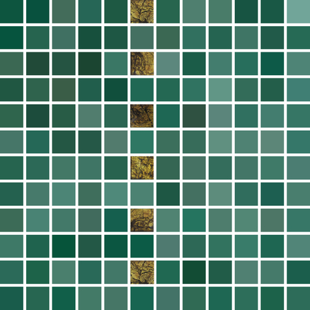 tiled: Vector abstract background. Tiled green mosaic. Illustration