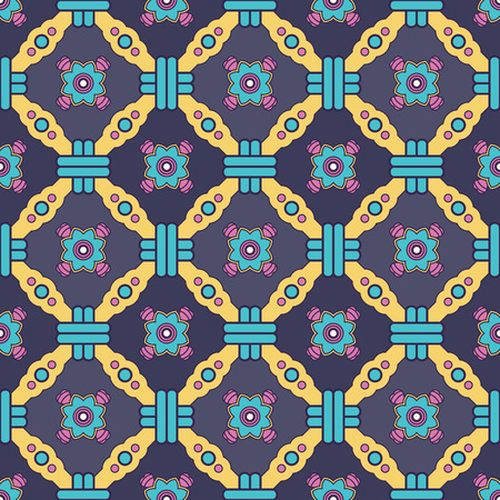 autumn motif: Abstract vector tribal ethnic background seamless pattern.