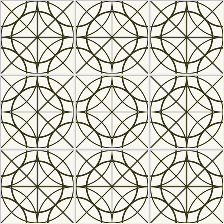 ceramics: Seamless circle pattern. Ceramics pattern. Tiled pattern. Floor Ceramics pattern. Abstract Black and White Background. Ethnic Pattern.Dotted Textile background.Geometric Pattern.Vector Regular Texture