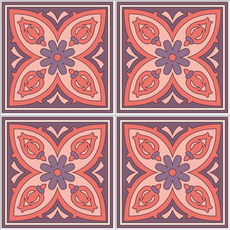 seamless tile: Beautiful seamless ornamental tile background vector illustration. Illustration