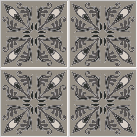 ceramic tile: Tiles seamless pattern. Vintage background - Victorian ceramic tile in vector.