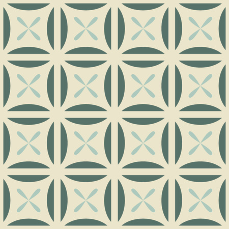 inserts: Seamless geometric pattern with flowers inserts.