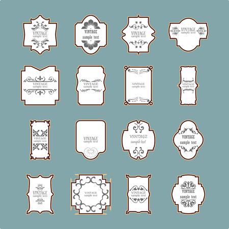 calligraphic design: Vintage frame set. Calligraphic design elements