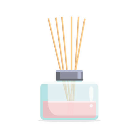 Vector aromatic diffuser with Scented Oil and reeds Vektorové ilustrace
