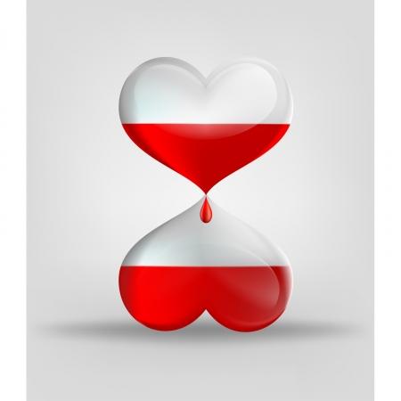 donor: Mira como dos corazones con sangre Vectores