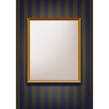 photo frame hanging on the wall Vector