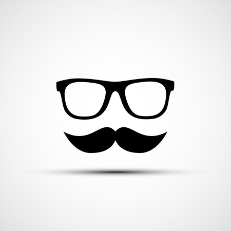 travesty: Vector illustration of glasses and mustache Illustration