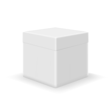 ebox: Vector image of a box isolated on a white background Illustration