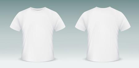 Vector t-shirt em branco modelo. Frente e verso