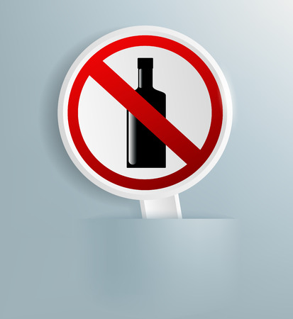 refrain: Vector sign indicating the prohibition of alcohol