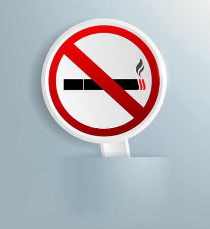 smoking ban: Vector plaque designating smoking ban Illustration