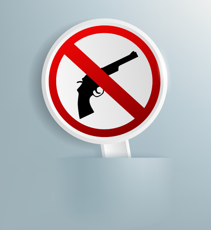 disarmament: Vector sign indicating the prohibition of weapons Illustration